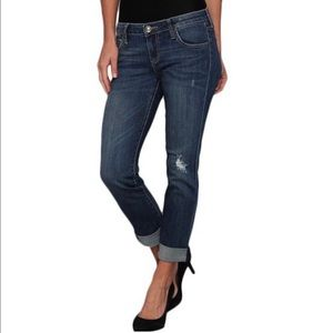 Kut Catherine Slim Boyfriend Distressed Jeans